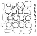 vector collection of hand drawn ... | Shutterstock .eps vector #433173982