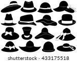 Hats illustration isolated on white