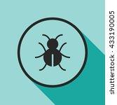 bug icon. bug vector... | Shutterstock .eps vector #433190005