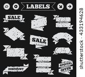 stickers  tags and banners with ...