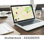 map location information web... | Shutterstock . vector #433200355