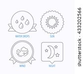 weather  sun and wind icons.... | Shutterstock .eps vector #433202566