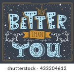 stylish inspirational humor... | Shutterstock .eps vector #433204612