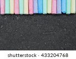 colorful pastel sidewalk chalk... | Shutterstock . vector #433204768