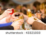 holiday event people cheering... | Shutterstock . vector #43321033