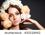 portrait of a beautiful woman... | Shutterstock . vector #433218442