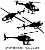 helicopter | Shutterstock .eps vector #43322155