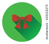 party bow icon. flat design....