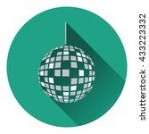 party disco sphere icon. flat...