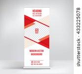 banner roll up design  business ... | Shutterstock .eps vector #433225078