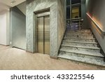 elevator and stairs in a modern ... | Shutterstock . vector #433225546