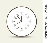 clock icon   vector | Shutterstock .eps vector #433226536