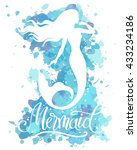 mermaid  vector silhouette...   Shutterstock .eps vector #433234186
