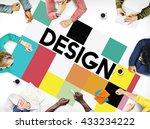 design drawing outline planning ... | Shutterstock . vector #433234222