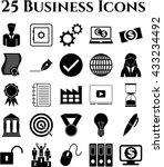 business icon set. 25 icons... | Shutterstock .eps vector #433234492