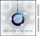blue christmas ball on... | Shutterstock .eps vector #43323451