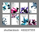 abstract background. geometric... | Shutterstock .eps vector #433237555
