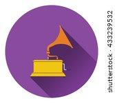 gramophone icon. flat design....