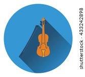 violin icon. flat design....