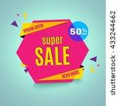 sale banner. | Shutterstock .eps vector #433244662
