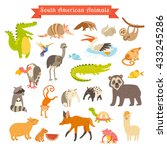 sourth america animals... | Shutterstock . vector #433245286