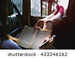 reading study camping car hobby ... | Shutterstock . vector #433246162