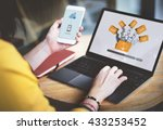 data backup files online... | Shutterstock . vector #433253452