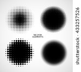 simple abstract halftone... | Shutterstock .eps vector #433257526