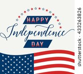 happy independence day. july... | Shutterstock .eps vector #433263826