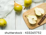group of pears and pieces of... | Shutterstock . vector #433265752
