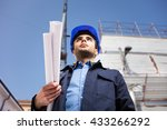 portrait of an architect... | Shutterstock . vector #433266292