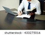 businessman working with laptop ... | Shutterstock . vector #433275016
