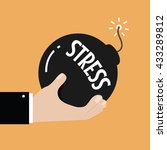 stress and stressful situation... | Shutterstock .eps vector #433289812