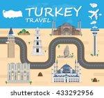 turkey landmark global travel...   Shutterstock .eps vector #433292956