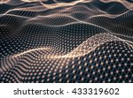 abstract polygonal space low... | Shutterstock . vector #433319602