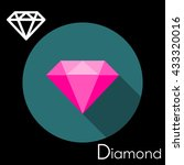 diamond icon. vector... | Shutterstock .eps vector #433320016