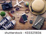 travel accessories costumes.... | Shutterstock . vector #433325836