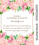 invitation with floral... | Shutterstock . vector #433326052