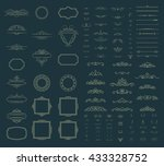 wicker lines and old decor... | Shutterstock .eps vector #433328752