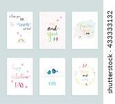hand drawn letter. | Shutterstock .eps vector #433333132