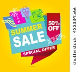 summer sale vector banner. ... | Shutterstock .eps vector #433334566