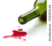 red wine spilling from the... | Shutterstock . vector #433344166