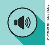 speaker volume icon. volume sign | Shutterstock .eps vector #433345312
