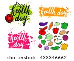 world health day. modern... | Shutterstock .eps vector #433346662