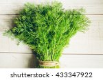 Fresh Dill On The Table. Eco...