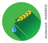 wheat with drop icon. flat...