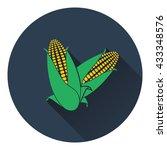corn icon. flat design. vector...