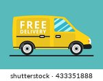 concept of the delivery service.... | Shutterstock .eps vector #433351888