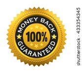 money back guaranteed label. 3d ...