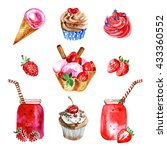 watercolor illustrations of... | Shutterstock . vector #433360552